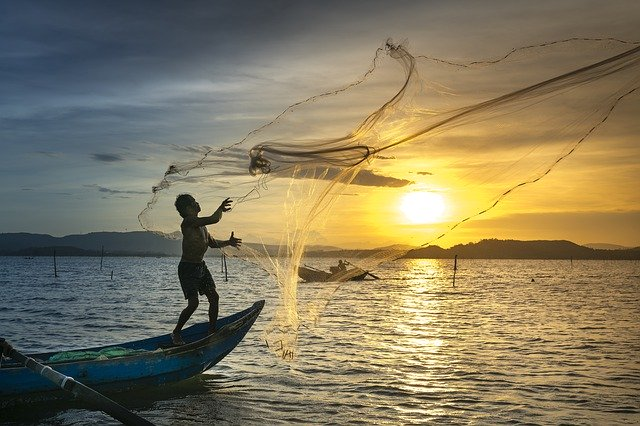 Red de pesca paso a paso